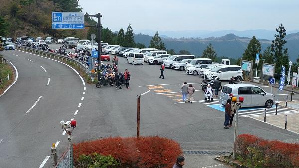 【和歌山県】道の駅田辺市龍神ごまさんスカイタワー 駐車場
